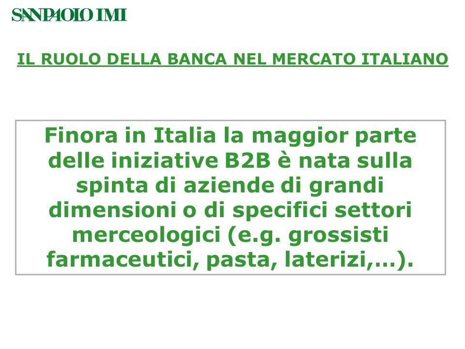 Finora in Italia la maggior parte delle iniziative B2B è nata sulla spinta di aziende di grandi dimensioni o di specifici settori merceologici (e.g. g