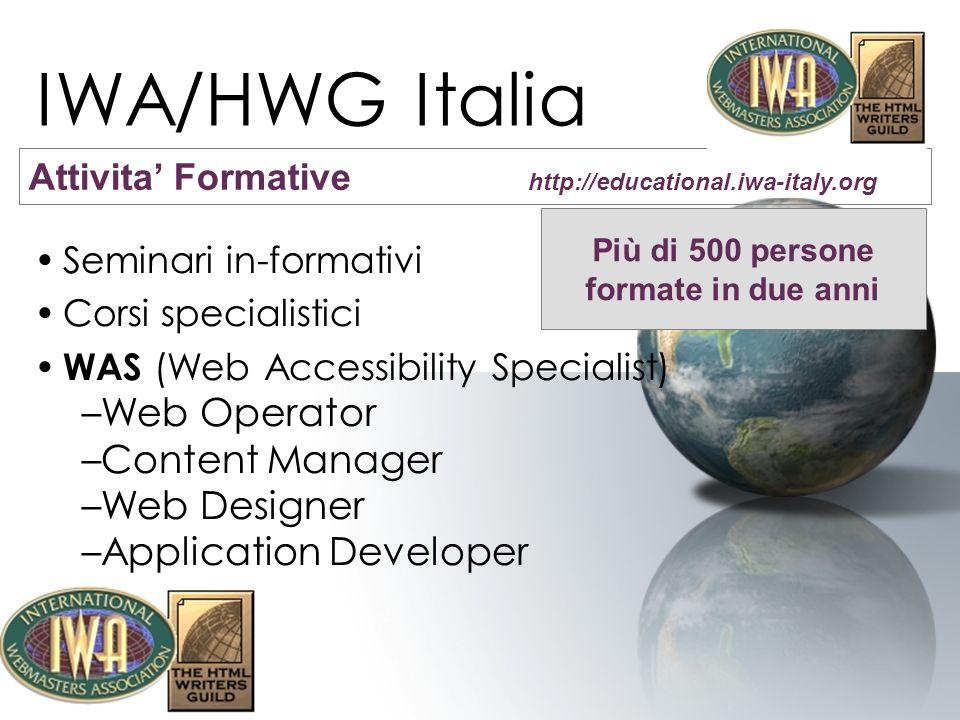 IWA/HWG Italia IWA Italia ha promosso due modifiche alla legge c.d.