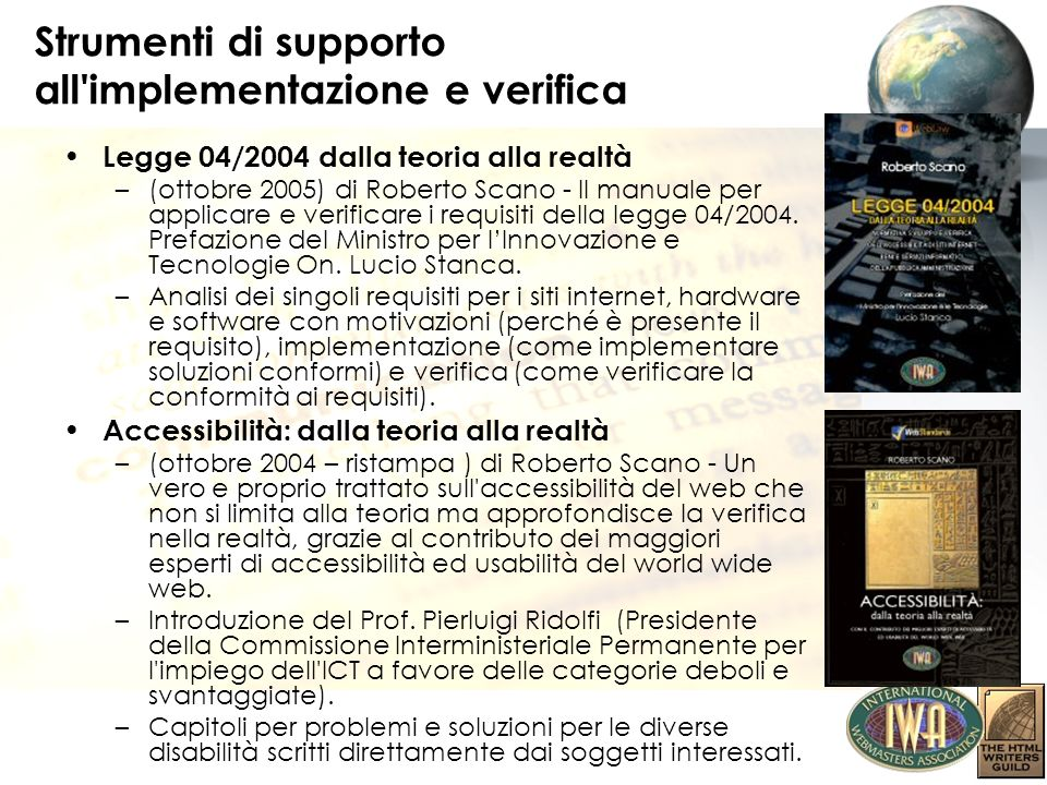 Definizione di Multimedia Nel glossario della bozza delle WCAG 2.0 il Multimedia è così definito: Audio or video synchronized with another type of media and/or with time-based interactive components Video: the technology of moving pictures or images Note: Video can be made up of animated or photographic images, or both.
