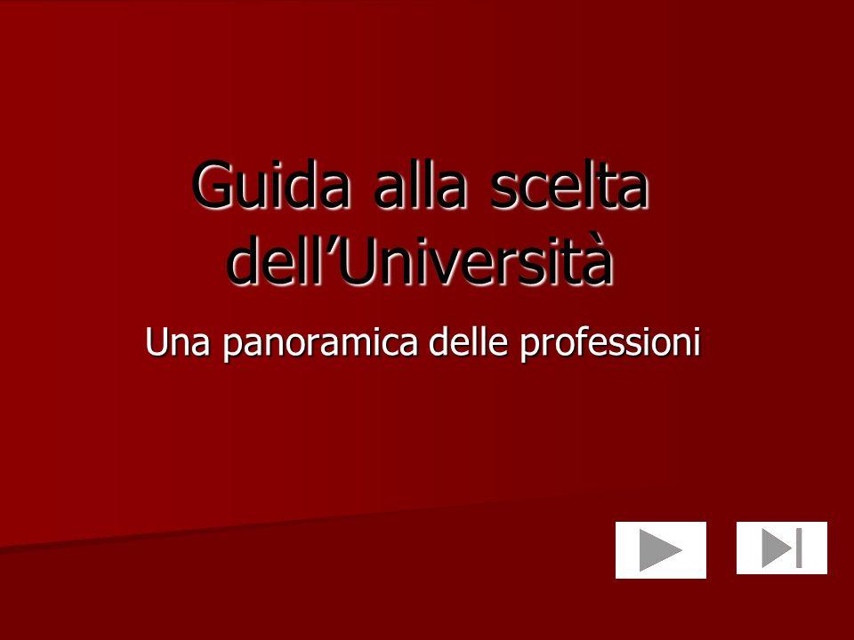 Guida alla scelta dellUniversità Una panoramica delle professioni