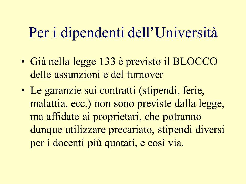 Per gli studenti e le loro famiglie Le tasse universitarie schizzeranno a livelli esorbitanti per coprire il buco di bilancio (per Firenze, è stato ca
