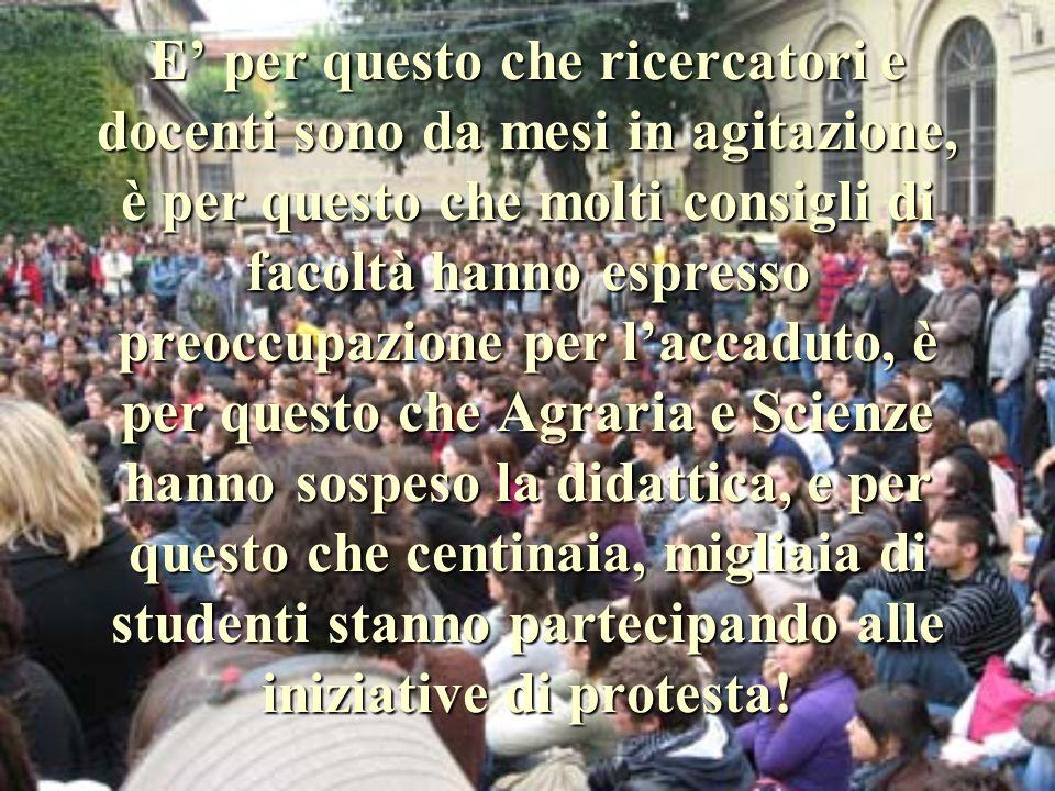 A Firenze la situazione è grave LUniversità è indebitata, anche a causa della cattiva gestione, e vende immobili per tamponare i debiti! Questi tagli