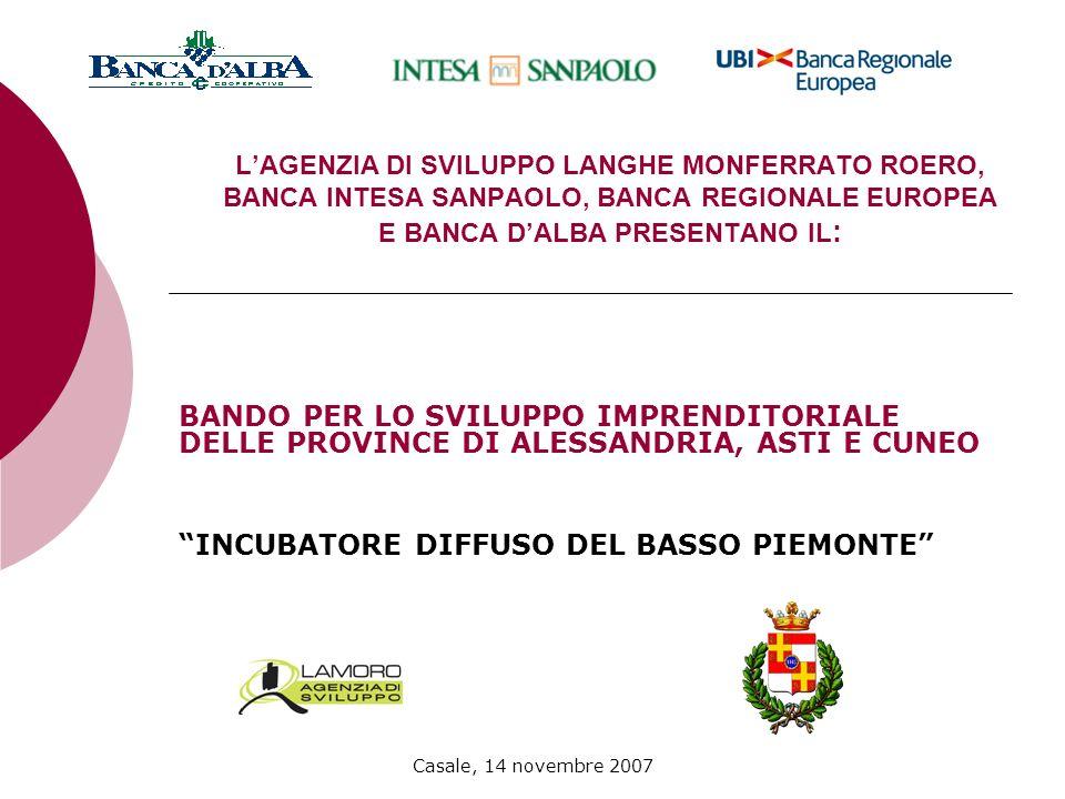 Casale, 14 novembre 2007 MODALITA DI PRESENTAZIONE LE DOMANDE DI PARTECIPAZIONE DOVRANNO ESSERE REDATTE COMPILANDO LAPPOSITA MODULISTICA E INVIATE IN DUPLICE COPIA CARTACEA E SU SUPPORTO INFORMATICO PRESSO: LANGHE MONFERRATO ROERO S.C.