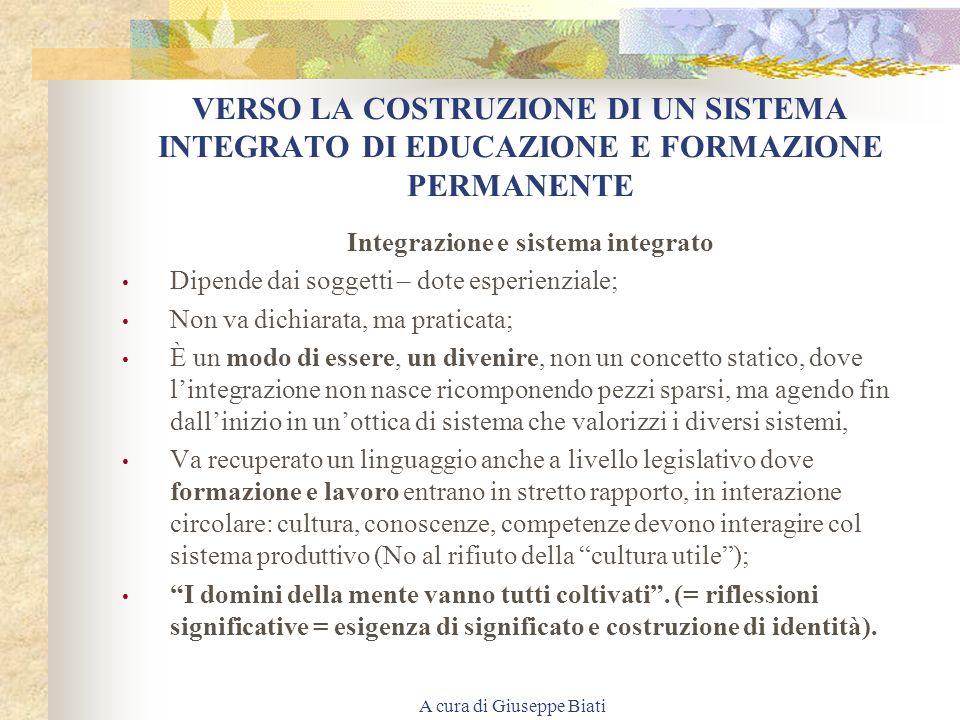 A cura di Giuseppe Biati OSSIA: UN PATTO SOCIALE PER LO SVILUPPO Art. 3, comma 6 del Patto sociale per lo sviluppo del 22.12.98: FORMAZIONE CONTINUA E
