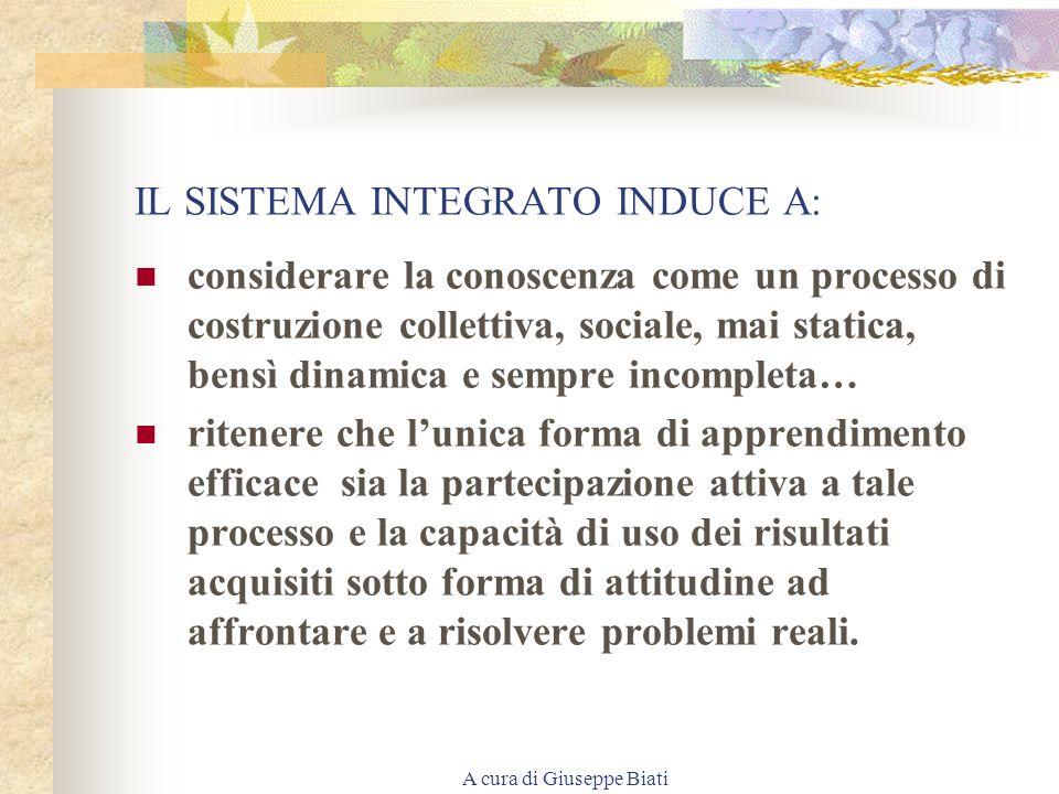 A cura di Giuseppe Biati VERSO LA COSTRUZIONE DI UN SISTEMA INTEGRATO DI EDUCAZIONE E FORMAZIONE PERMANENTE Integrazione e sistema integrato Dipende d
