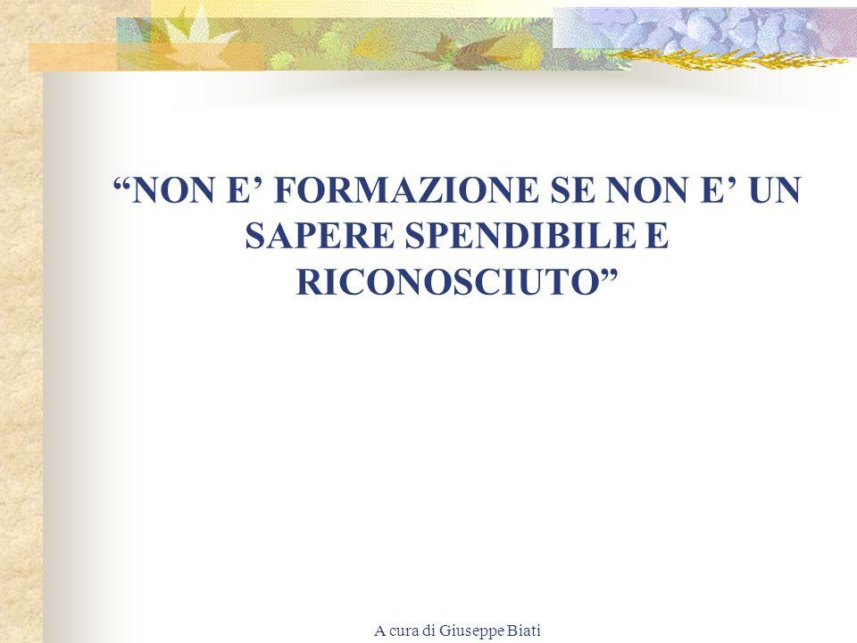 A cura di Giuseppe Biati IL SISTEMA INTEGRATO INDUCE A: considerare la conoscenza come un processo di costruzione collettiva, sociale, mai statica, be