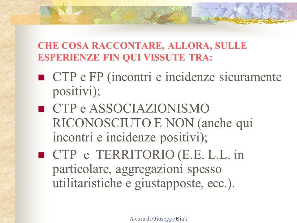 A cura di Giuseppe Biati NON E FORMAZIONE SE NON E UN SAPERE SPENDIBILE E RICONOSCIUTO