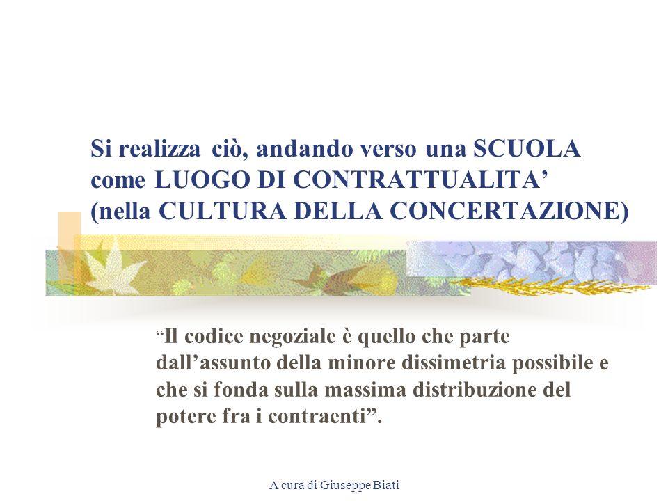 A cura di Giuseppe Biati I QUATTRO ELEMENTI DIVERSI SONO INDISPENSABILI PER UN NUOVO CONCETTO DI SCUOLA ( = ISTRUZIONE/FORMAZIONE). E NECESSARIO OPERA