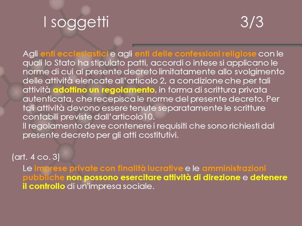 LUtilità Sociale 1/2 a) assistenza sociale, ai sensi della legge 8 novembre 2000, n.
