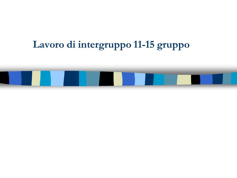 Lavoro di intergruppo 11-15 gruppo