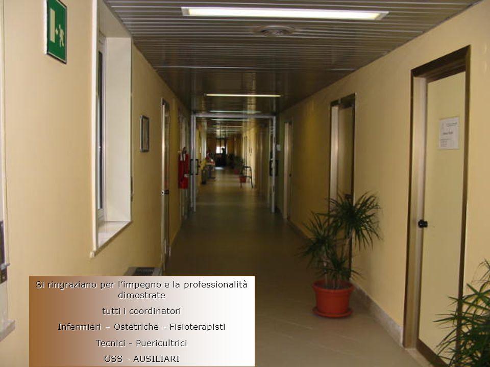 Si ringraziano per limpegno e la professionalità dimostrate tutti i coordinatori Infermieri – Ostetriche - Fisioterapisti Tecnici - Puericultrici OSS - AUSILIARI