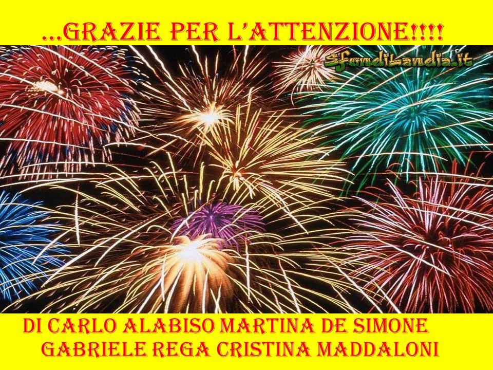 …Grazie per lattenzione!!!! Di Carlo Alabiso Martina De Simone Gabriele Rega Cristina Maddaloni