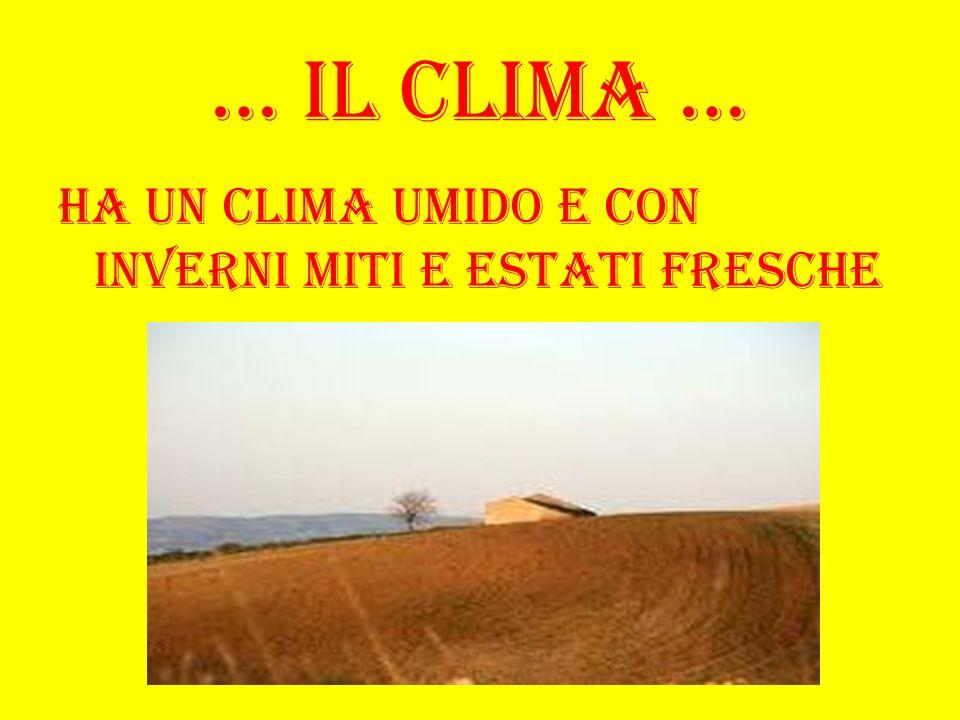 … Il clima … Ha un clima umido e con inverni miti e estati fresche