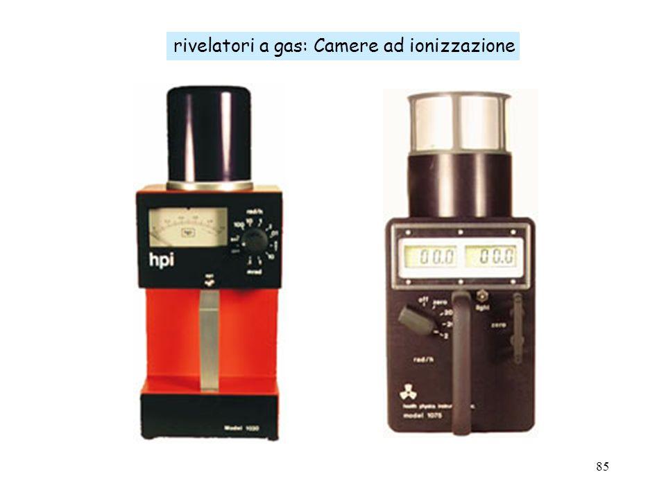 85 rivelatori a gas: Camere ad ionizzazione
