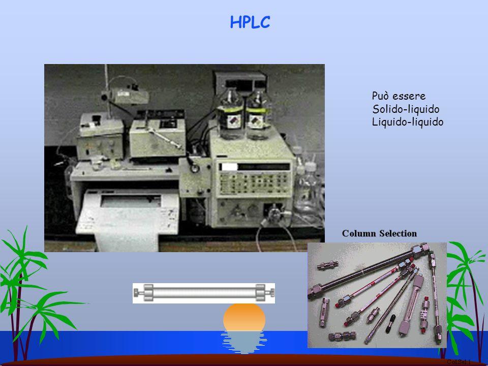 HPLC Può essere Solido-liquido Liquido-liquido