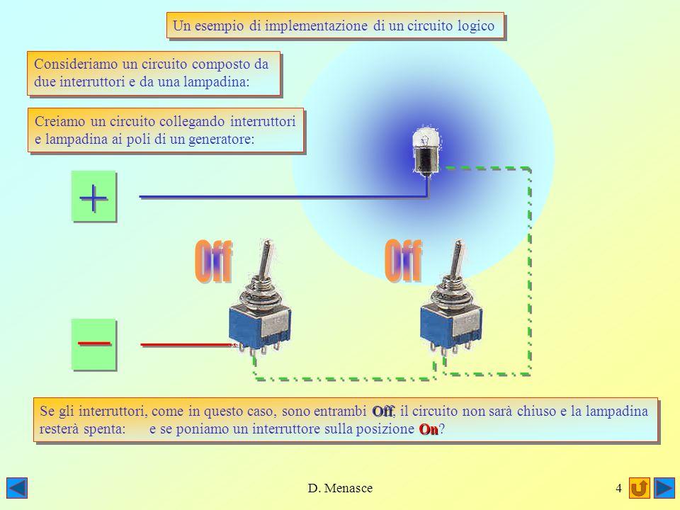D. Menasce3 Nel 1854 il matematico George Boole pubblicò un lavoro circa unalgebra delle relazioni logiche, nel quale investigava le proprietà di sist
