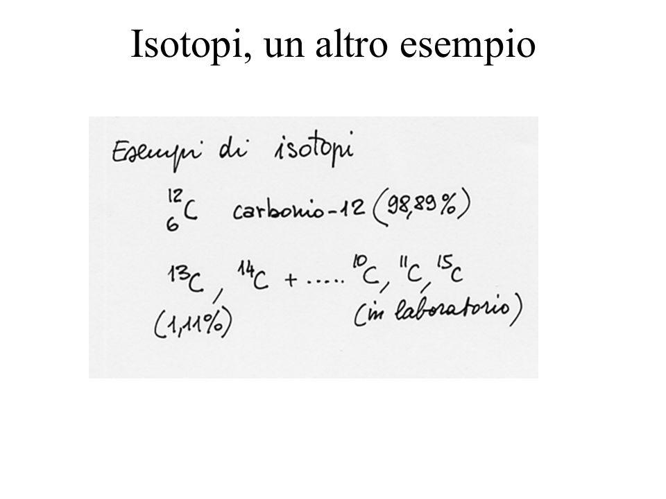 Isotopi, un altro esempio