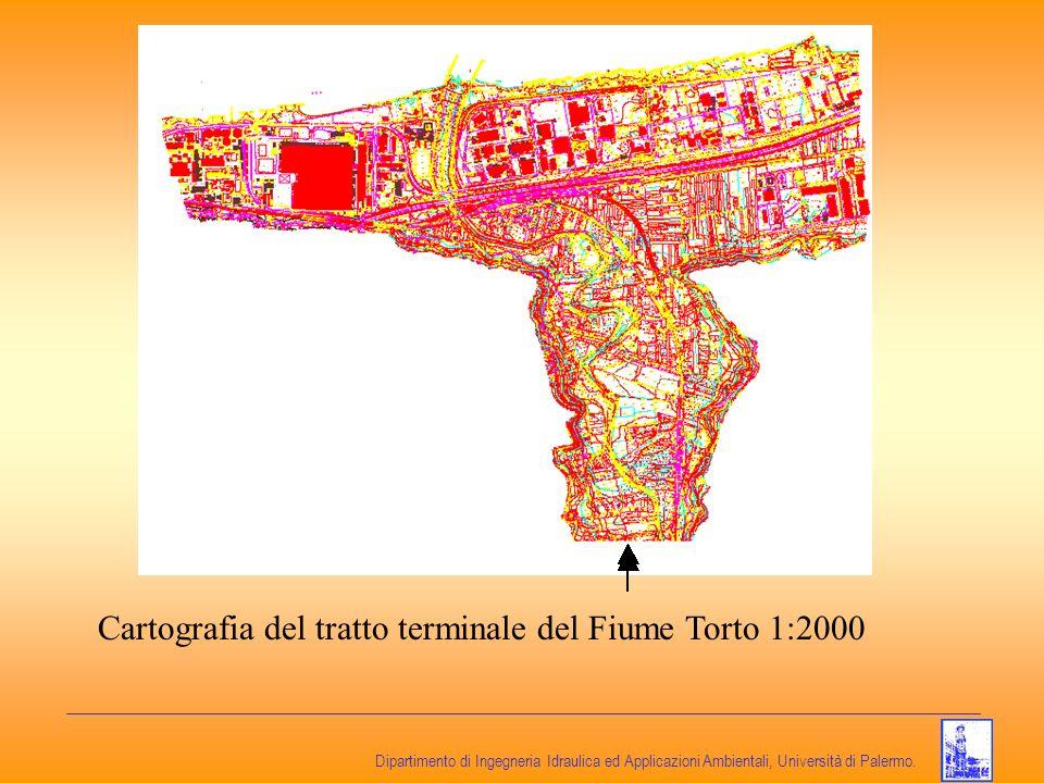 Dipartimento di Ingegneria Idraulica ed Applicazioni Ambientali, Università di Palermo. Cartografia del tratto terminale del Fiume Torto 1:2000