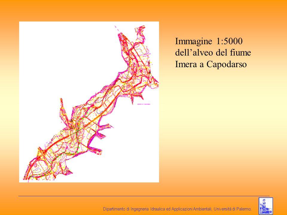Dipartimento di Ingegneria Idraulica ed Applicazioni Ambientali, Università di Palermo. Immagine 1:5000 dellalveo del fiume Imera a Capodarso