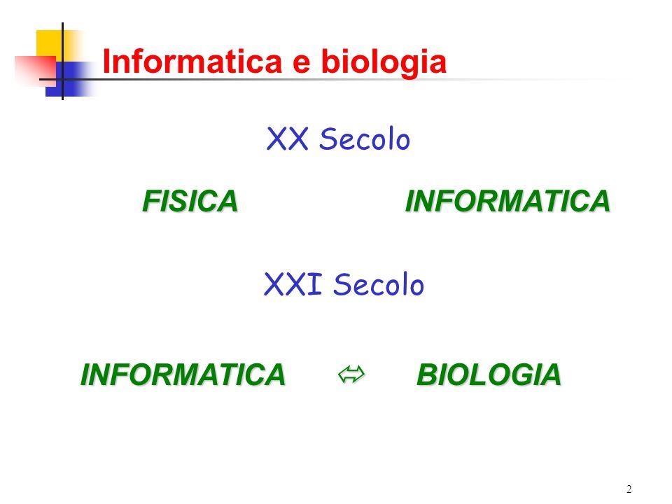 3 Informatica e biologia: amore o interesse.
