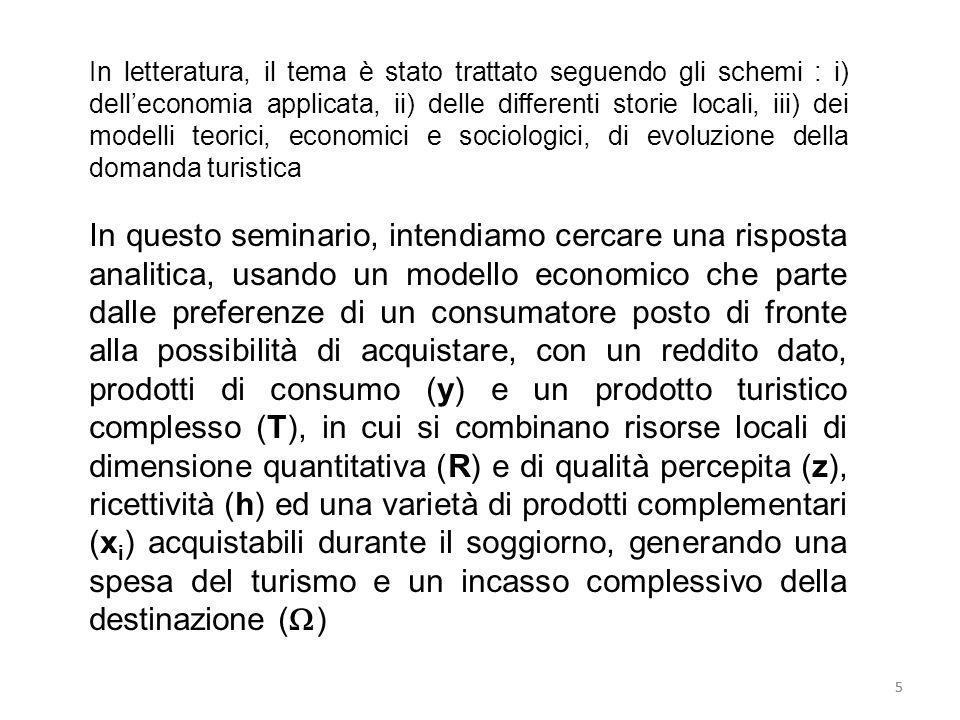 5 In letteratura, il tema è stato trattato seguendo gli schemi : i) delleconomia applicata, ii) delle differenti storie locali, iii) dei modelli teori