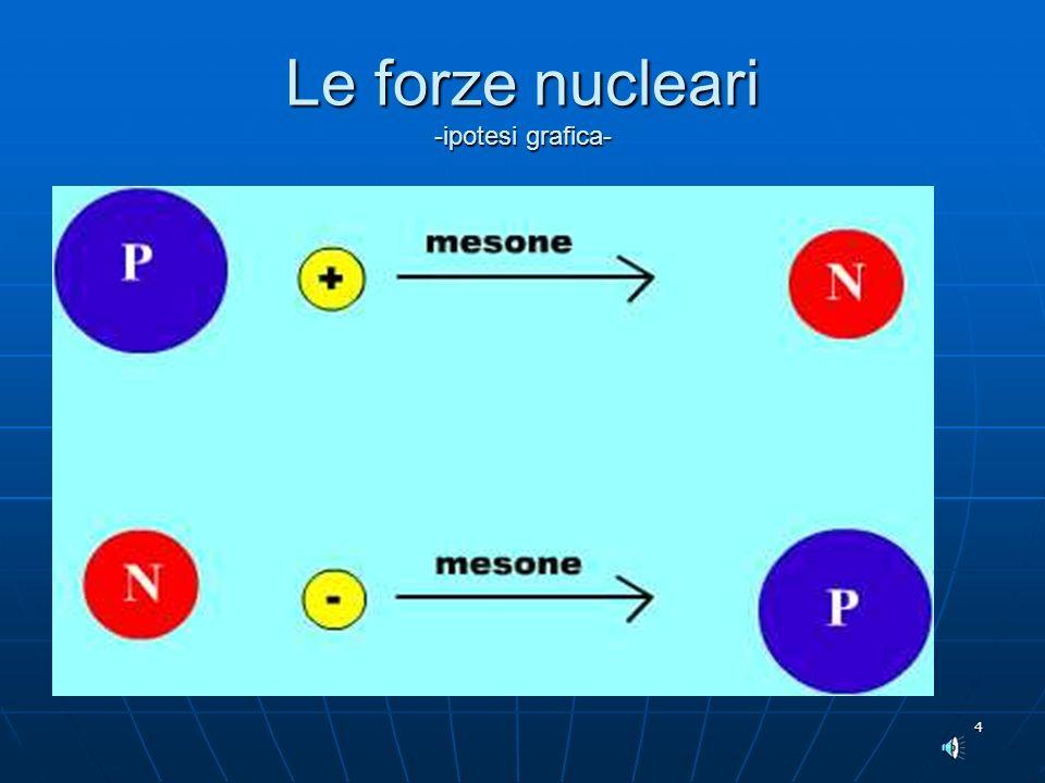 4 Le forze nucleari -ipotesi grafica-