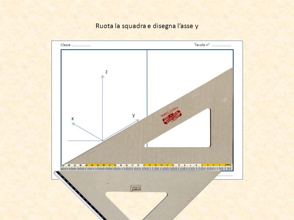 v Classe …………………Tavola n° ………………… Data …………………Cognome Nome ……………………… z x y Riporta le misure sui 3 assi 6 3 8
