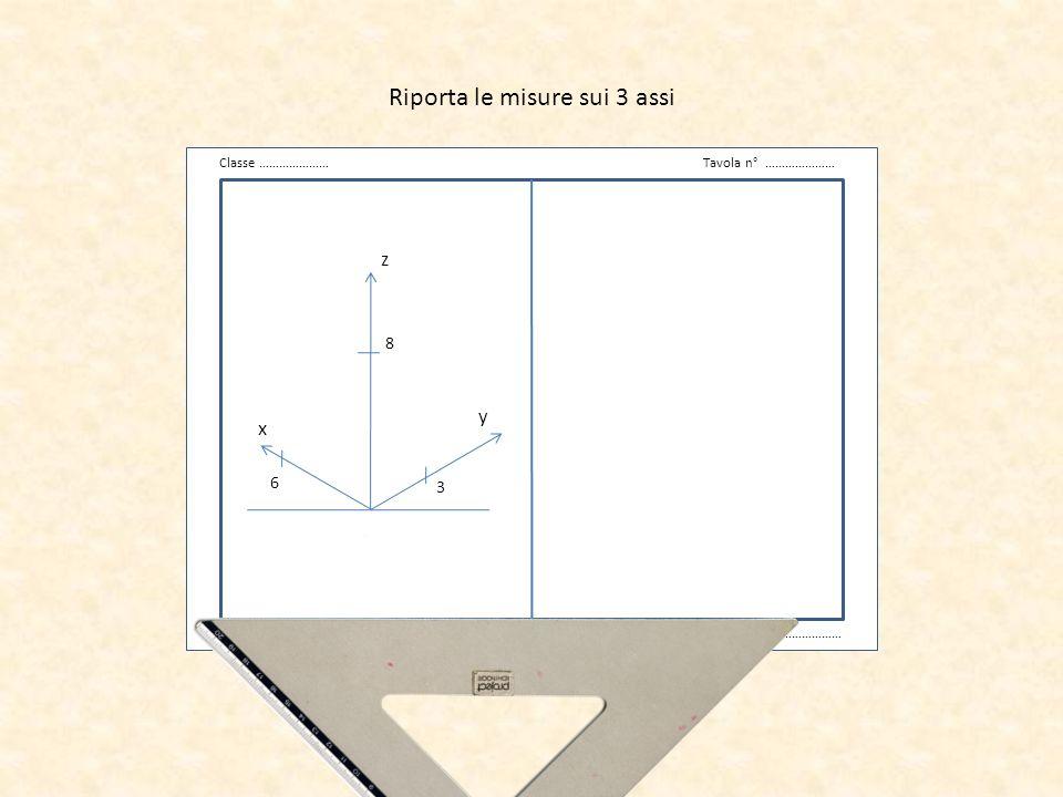 v Classe …………………Tavola n° ………………… Data …………………Cognome Nome ……………………… z x y Traccia la base