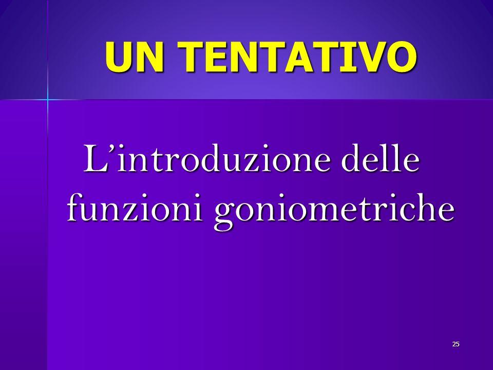 UN TENTATIVO Lintroduzione delle funzioni goniometriche 25