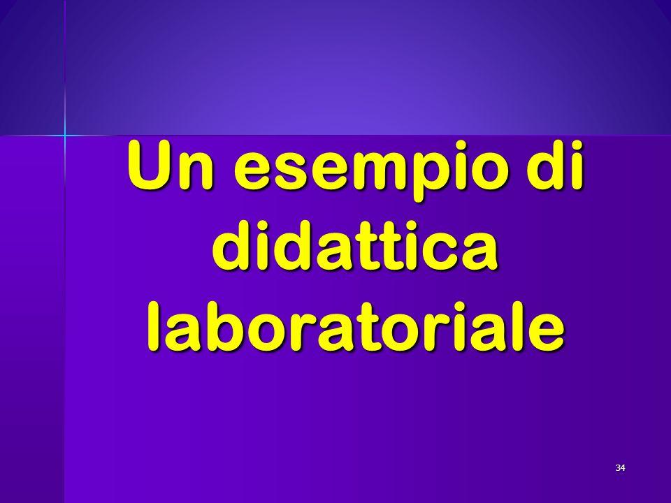 Un esempio di didattica laboratoriale 34