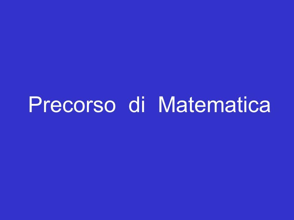 titolo Precorso di Matematica