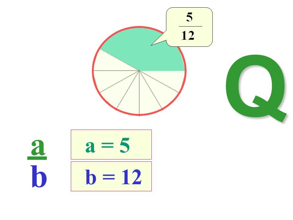 a b b = 12 a = 5 Q