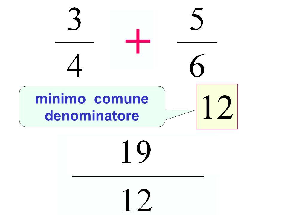+ 12 minimo comune denominatore