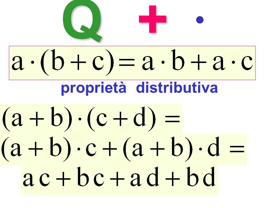 Q+ proprietà distributiva Proprietà distributiva