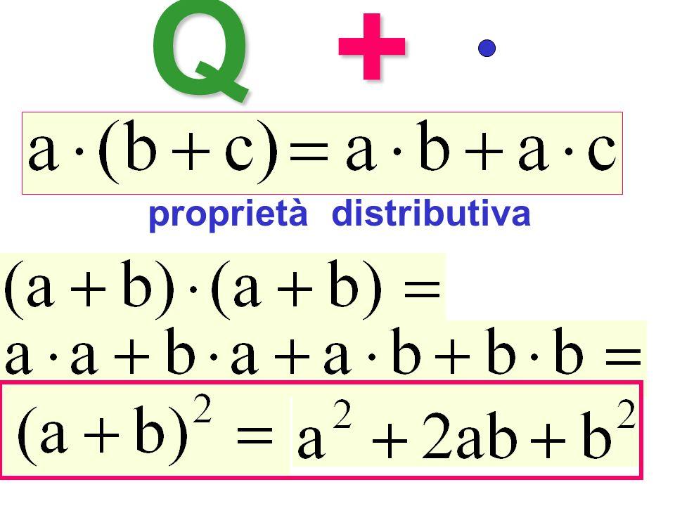 Q+ proprietà distributiva Quadrato del binomio