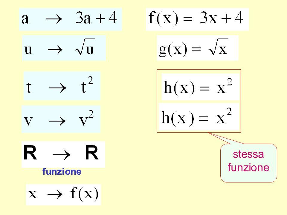 funzione stessa funzione