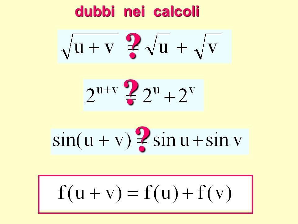 dubbi nei calcoli ? ? ? Dubbi nei calcoli
