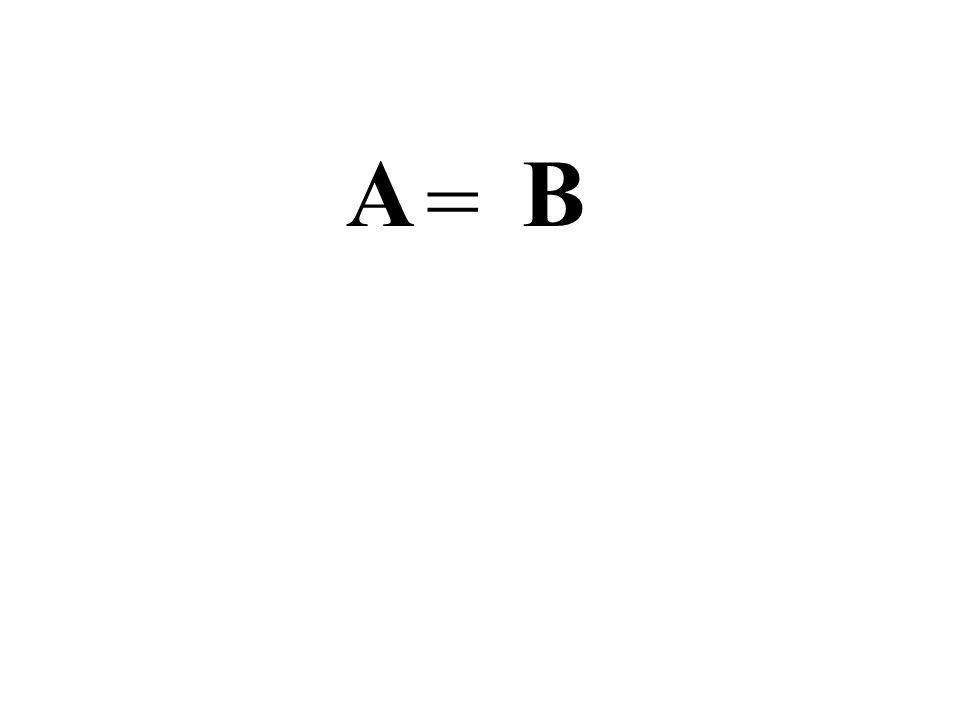A = B Concetto di uguaglianza