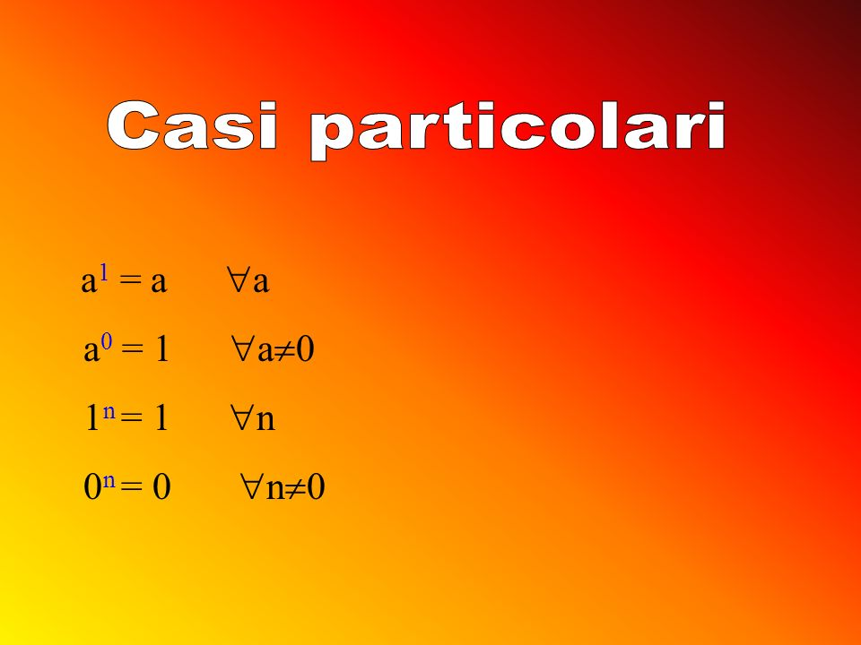 a m. a n = a m+n a m : a n = a m-n a n. b n = (a.b) n a n : b n = (a:b) n (a m ) n = a m.n