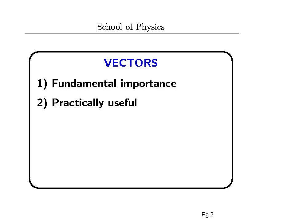 Pg 23 Ricapitolazzione della lezione di oggi l VETTORI Vettori e scalari Vettori Unitari Componenti di un vettore Addizione grafica di vettori Addizione di vettori per componenti
