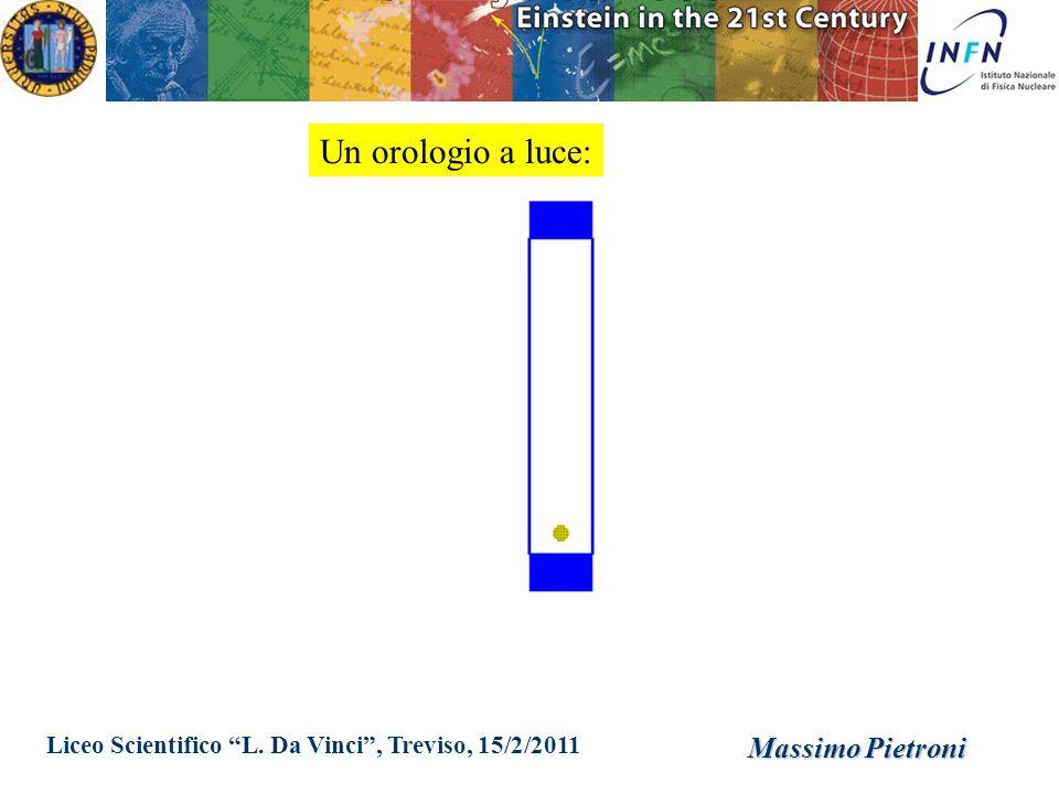 Liceo Scientifico L. Da Vinci, Treviso, 15/2/2011 Massimo Pietroni Un orologio a luce: