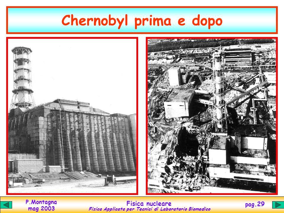 P.Montagna mag 2003 Fisica nucleare Fisica Applicata per Tecnici di Laboratorio Biomedico pag.28 Il disastro di Chernobyl Chernobyl, Ucraina, 26 april