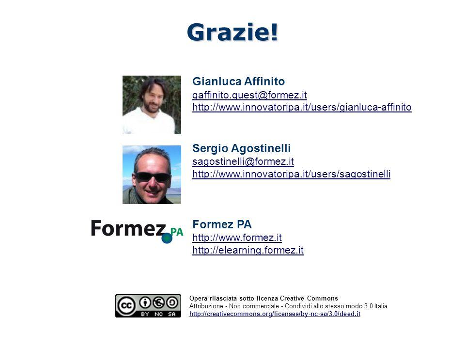 Radar Web PA - Valutazione della qualità dei siti web della PA Opera rilasciata sotto licenza Creative Commons Attribuzione - Non commerciale - Condividi allo stesso modo 3.0 Italia http://creativecommons.org/licenses/by-nc-sa/3.0/deed.itGrazie.
