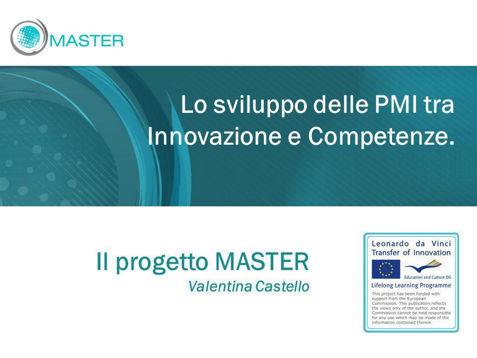 Lo sviluppo delle PMI tra Innovazione e Competenze. Il progetto MASTER Valentina Castello