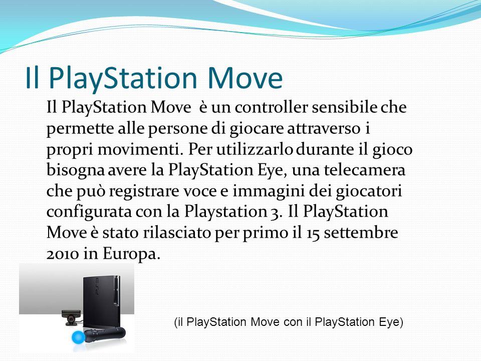 Il PlayStation Move Il PlayStation Move è un controller sensibile che permette alle persone di giocare attraverso i propri movimenti. Per utilizzarlo