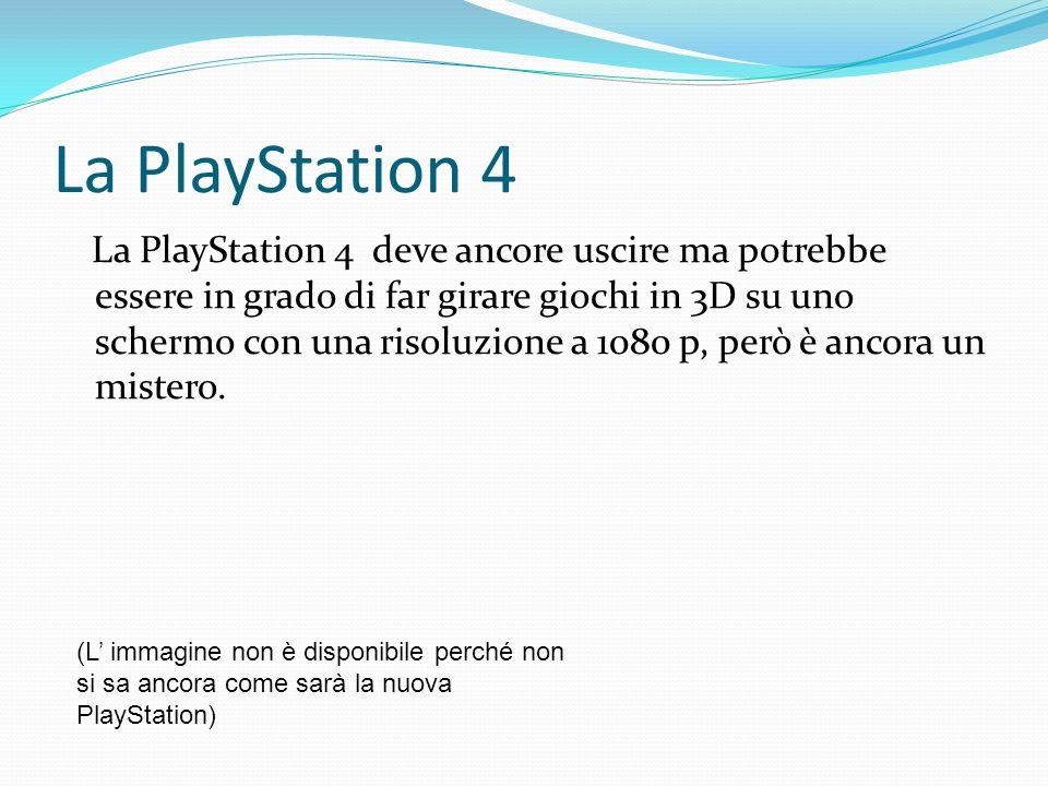 La PlayStation 4 La PlayStation 4 deve ancore uscire ma potrebbe essere in grado di far girare giochi in 3D su uno schermo con una risoluzione a 1080