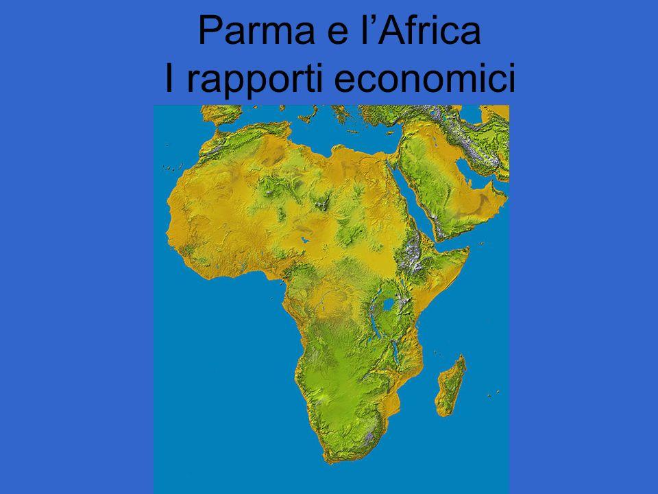 StatoExport italiano% totImport Italiano% totBilancio Export-Import (ICE 2007, mil Euro) Sudafrica 1.551 3,8 2.732 6,9- 1.181 Nigeria 837 5,0 874 2,2- 37 Angola 199 2,9 143 0,6 56 Sudan 172 3,0 39 0,8 133 Kenya 146 3,3 68 2,8 78 Camerun 91 4,4 634 22,0- 543 Cote d Ivoire 101 2,7 249 4,8- 148 Etiopia 180 6,6 63 8,7 117 Tanzania 82 3,9 36 2,9 46 Ghana 167 4,4 66 3,0 101 Botswana 5 0,2 1 0,0 4 Zambia 14 0,7 217 8,3- 203 Uganda 34 2,6 25 3,9 9 Senegal 102 5,1 82 8,3 20 Gabon 43 4,0 71 1,6- 28 Congo 249 30 219 Liberia 79 3 76 Maurizio 72 81 - 9 Togo 62 7 55 Guinea equat.