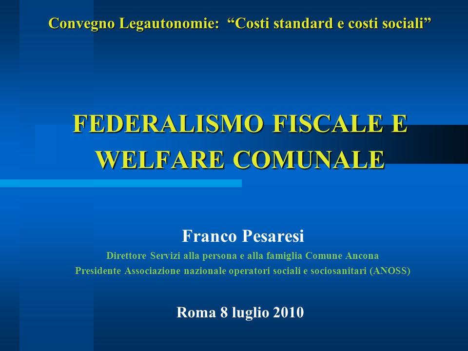 Franco Pesaresi52 SINTESI/3 (la spinta dei LEPS e del federalismo f.) I LEPS e il federalismo fiscale impatteranno in modo diverso sul welfare locale.