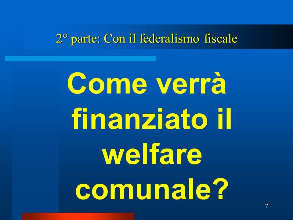 18 Il FS secondo la spesa standardizzata Il FS secondo la spesa standardizzata A lungo utilizzato dal Ministero dellInterno.