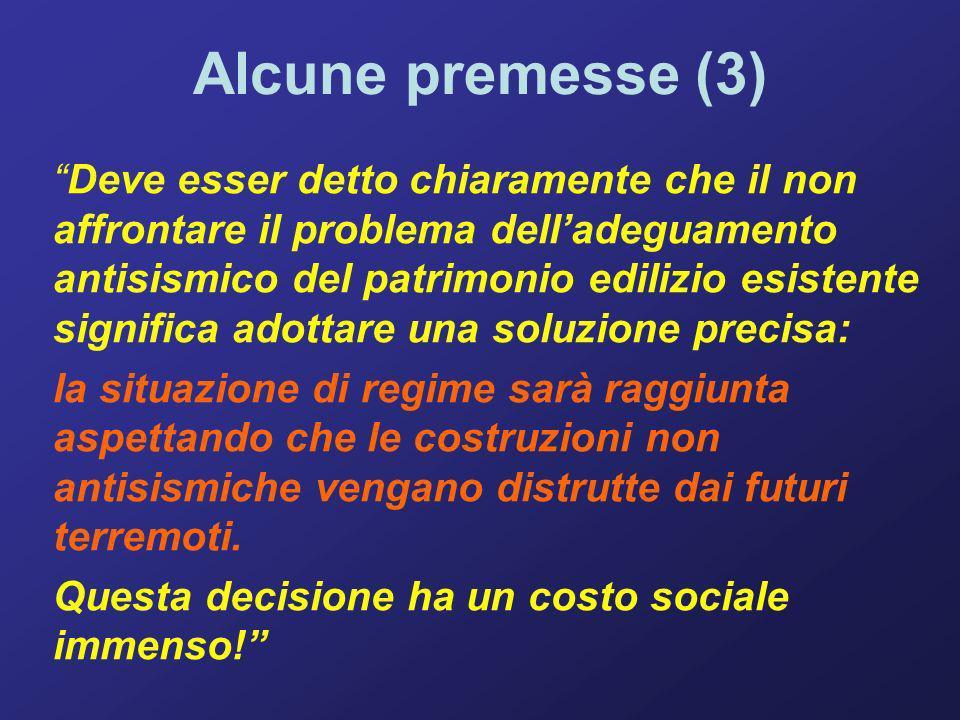 Alcune premesse (4) Le perdite non sono solo in termini di vite umane ed economiche dirette, ma anche indirette: perdita del tessuto sociale, produttivo, culturale, tradizionale … È IL DEBITO CHE SI CREA PER IL FUTURO